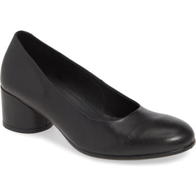 Ecco Shape 35 Round Heel Pump, Black