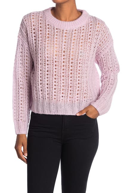 Image of 360 Cashmere June Wool Blend Pointelle Wool & Cashmere Blend Sweater