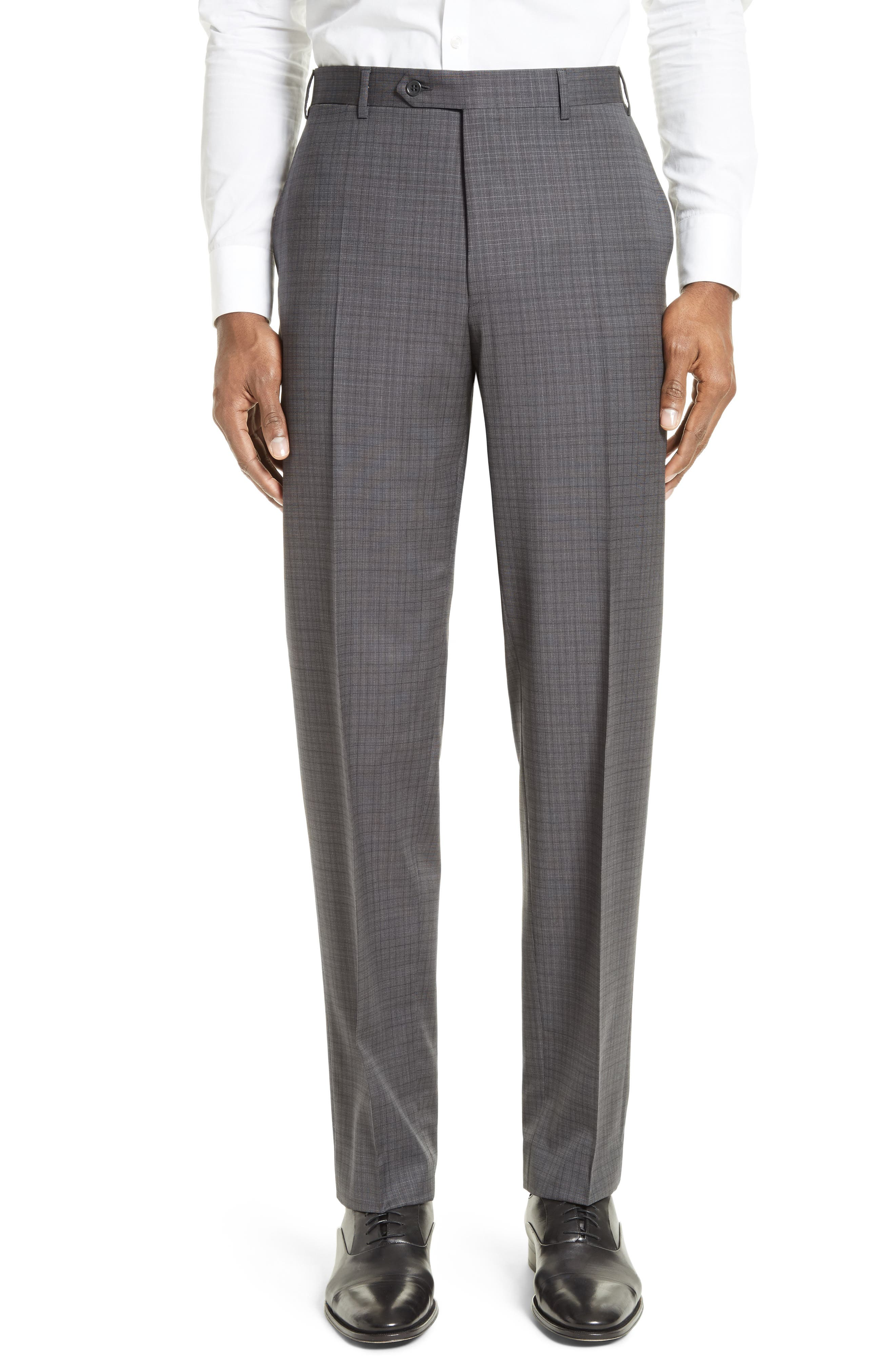 ,                             Classic Fit Check Wool Suit,                             Alternate thumbnail 6, color,                             GREY
