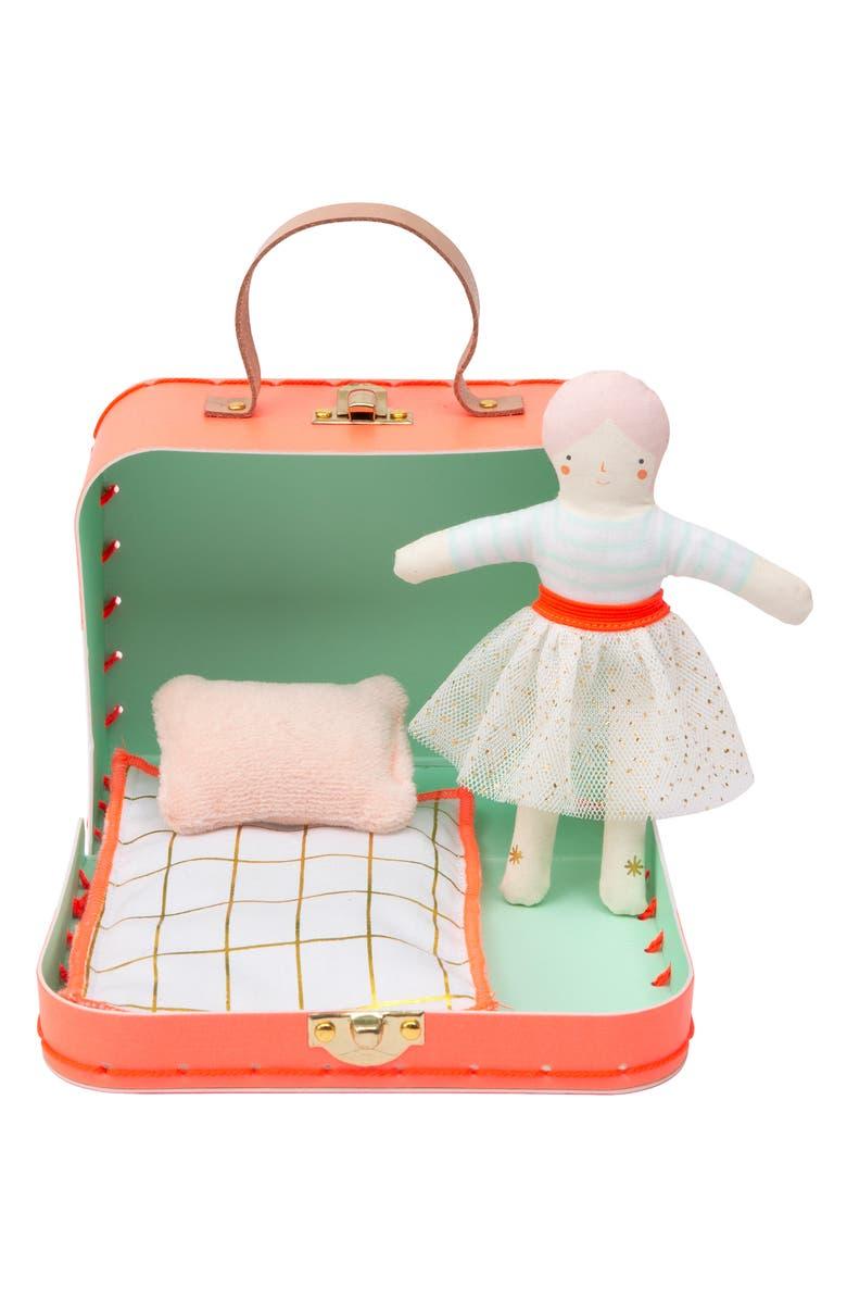 MERI MERI Mini Matilda Doll & Suitcase Set, Main, color, ASSORTED