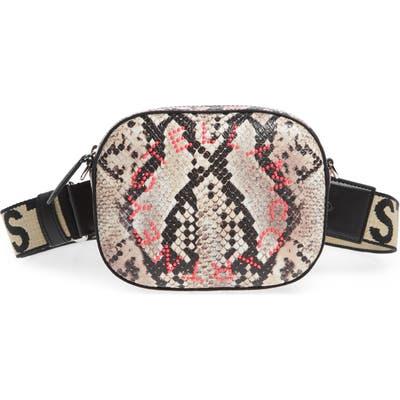 Stella Mccartney Snake Print Faux Leather Belt Bag - Pink