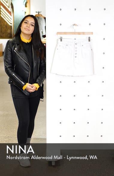 Emily Button Fly Denim Miniskirt, sales video thumbnail