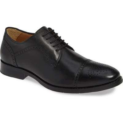 Johnston & Murphy Halford Cap Toe Derby, Black