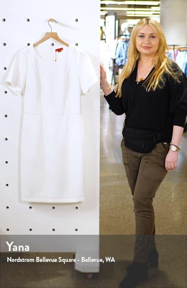 Kajessi Topstitch Sheath Dress, sales video thumbnail