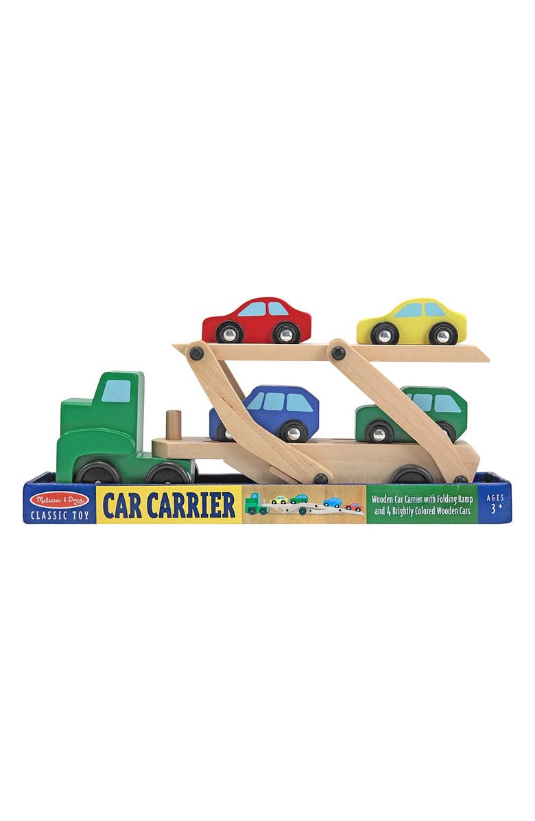 MELISSA & DOUG Personalized Wooden Car Carrier, Main, color, 300