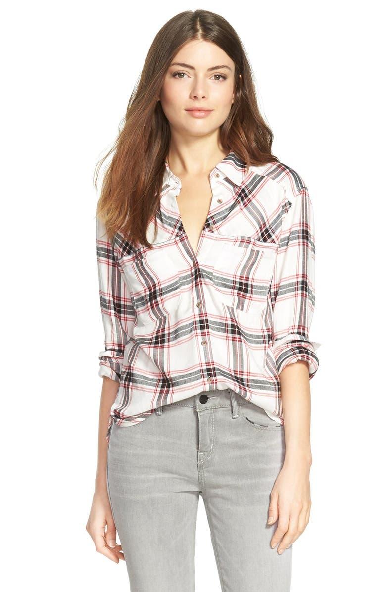 ACE DELIVERY Plaid Shirt, Main, color, 002