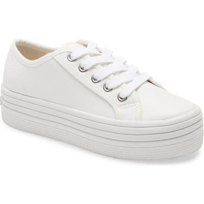 Steve Madden Bobbi30 Platform Sneaker, White