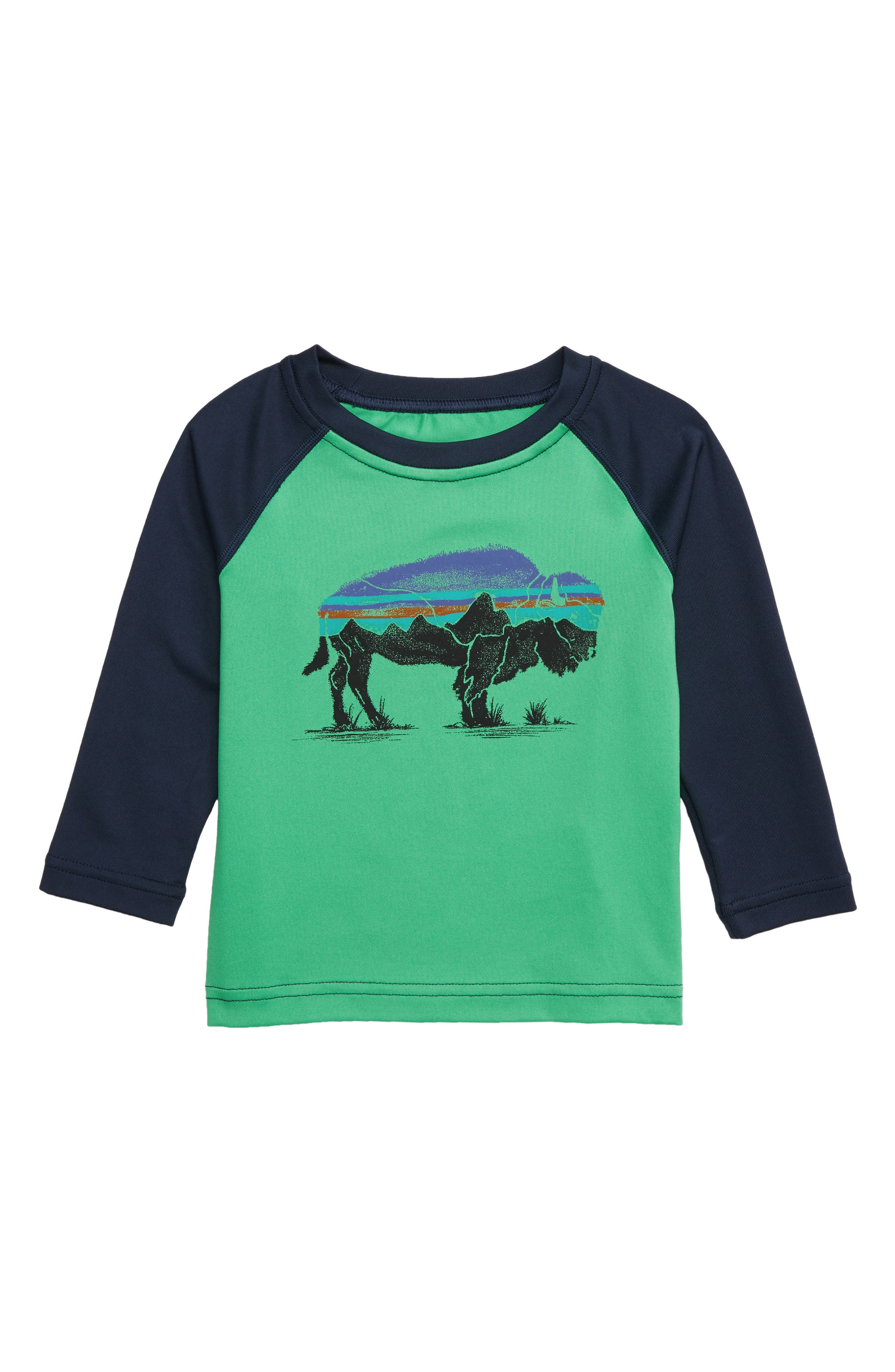 Capilene<sup>®</sup> Rashguard, Main, color, FRNG FITZ ROY BISON NET GREEN