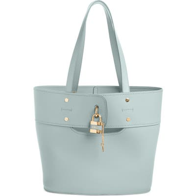 Chloe Aby Medium Leather Tote - Blue