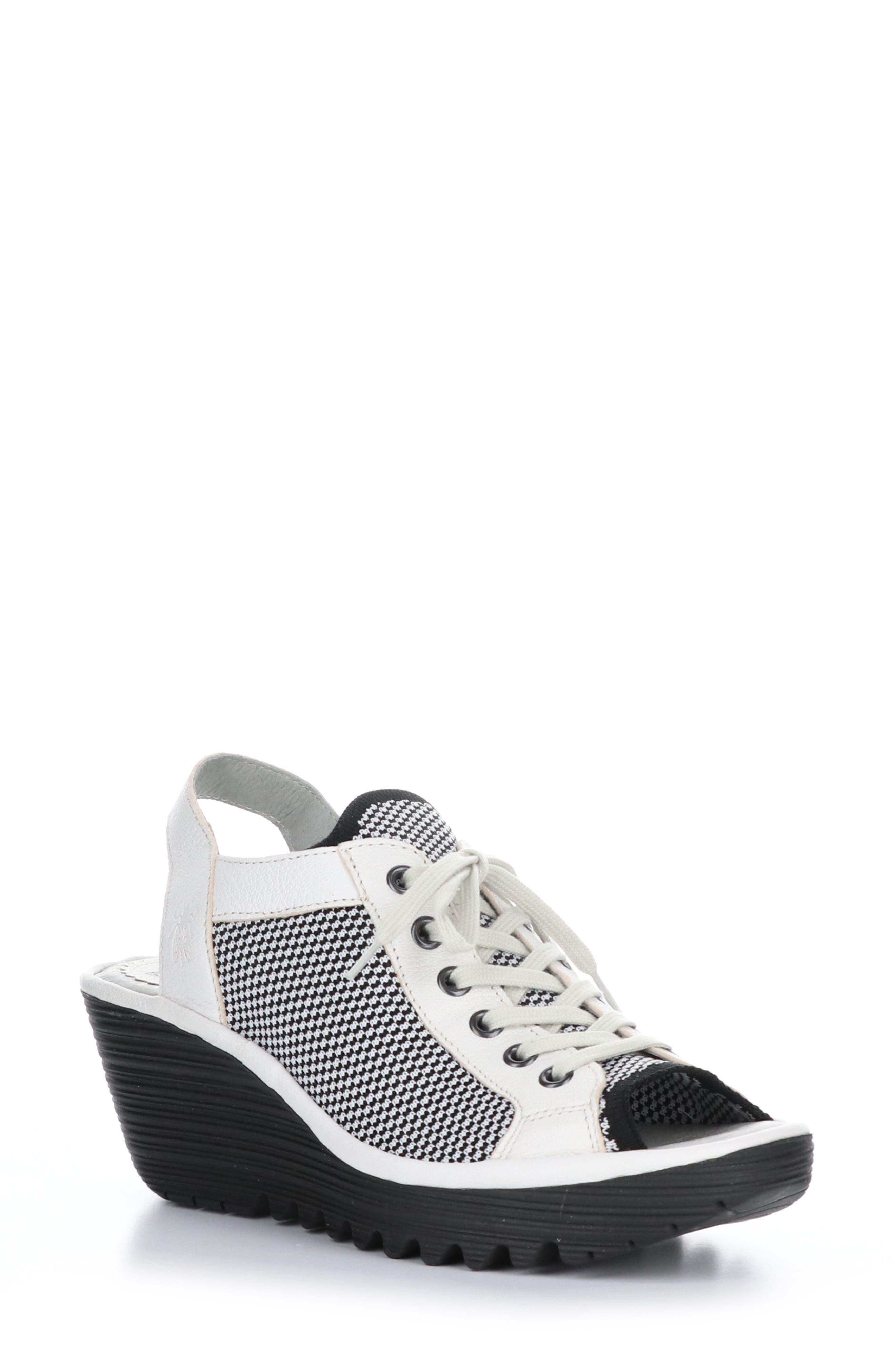 Yedu Lace-Up Wedge Sandal