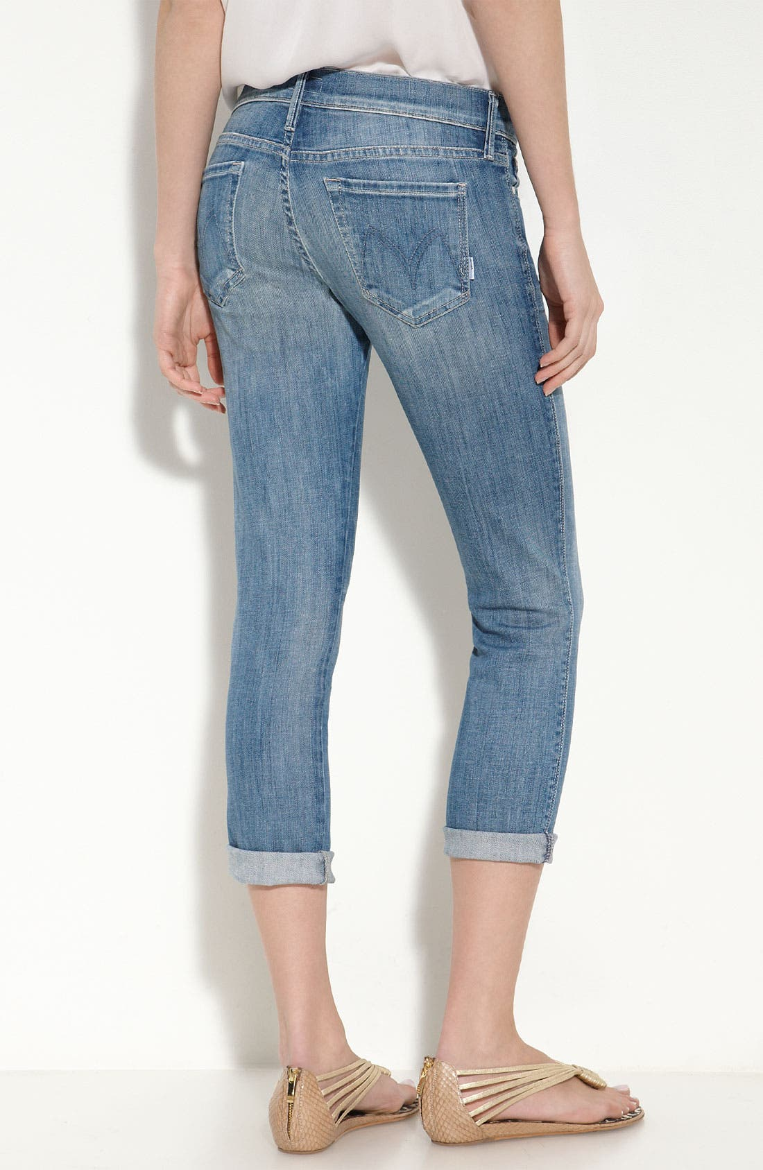 'Rascal' Crop Stretch Jeans, Main, color, 401