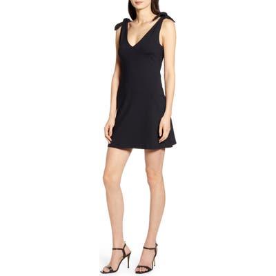 Susana Monaco Tie Shoulder Minidress, Black