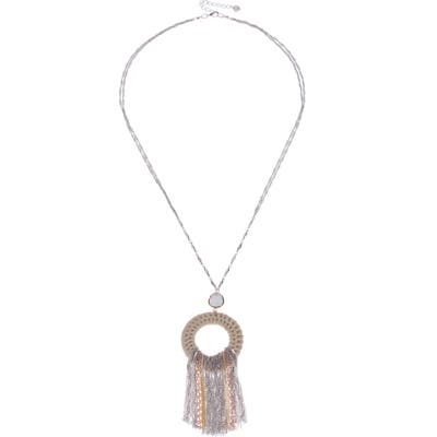 Nakamol Design Mix Metal Fringe Circle Pendant