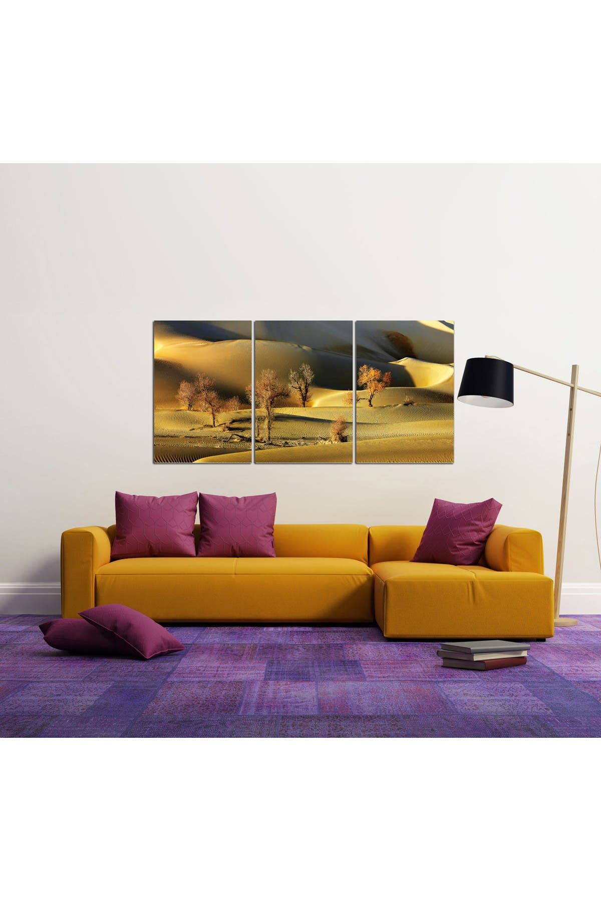 "Image of Chic Home Bedding Golden Desert Wall Art - 20""x40.5"""
