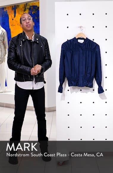 Smocked Zip Front Jacket, sales video thumbnail