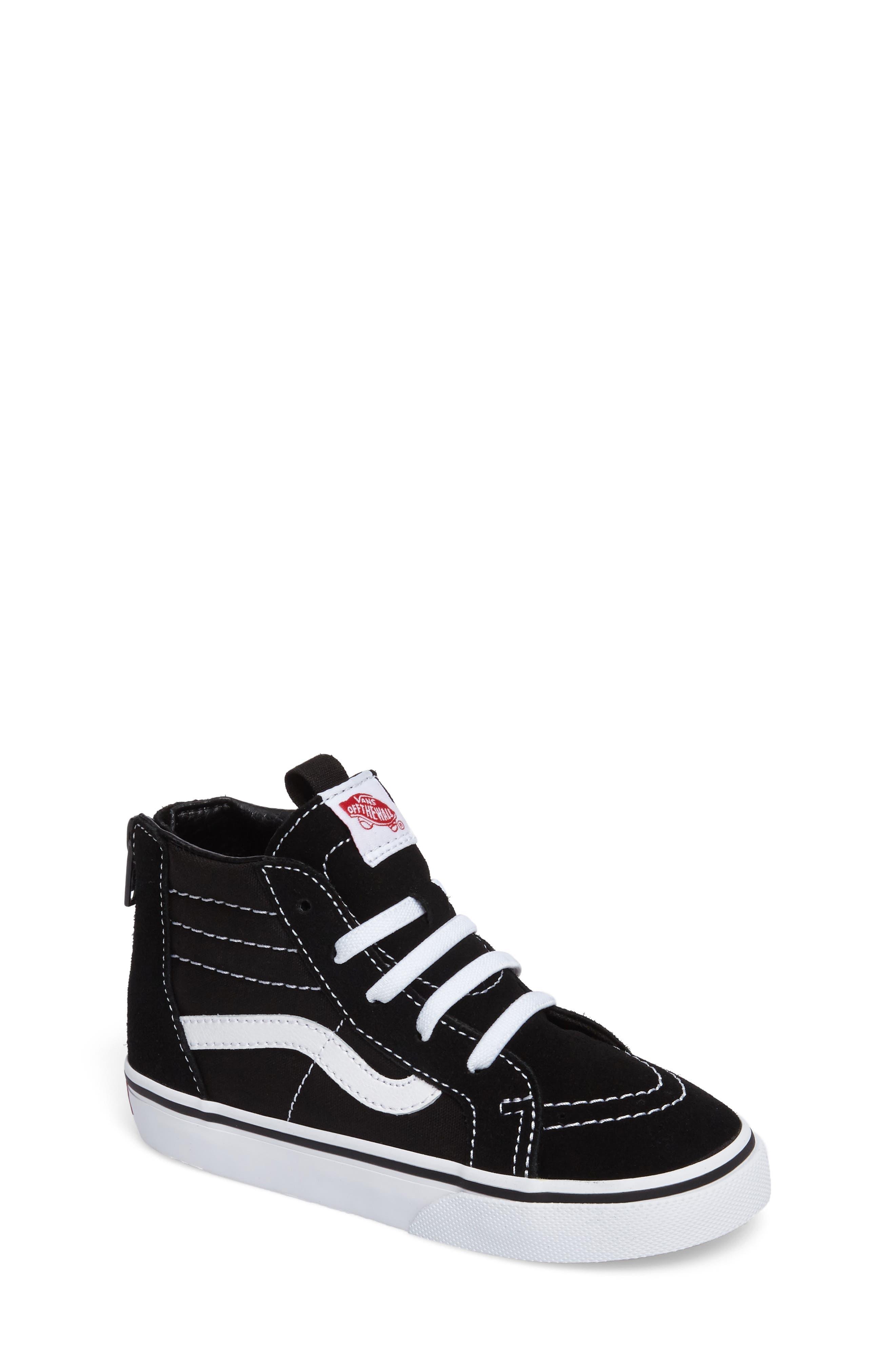 Toddler Boys Vans Sk8Hi Zip Sneaker Size 9 M  Black