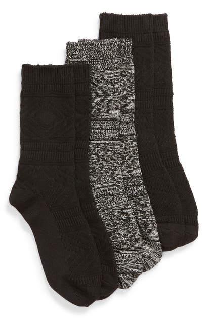 Hue Knits 3-PACK SUPERSOFT DIAMOND CABLE KNIT BOOT SOCKS