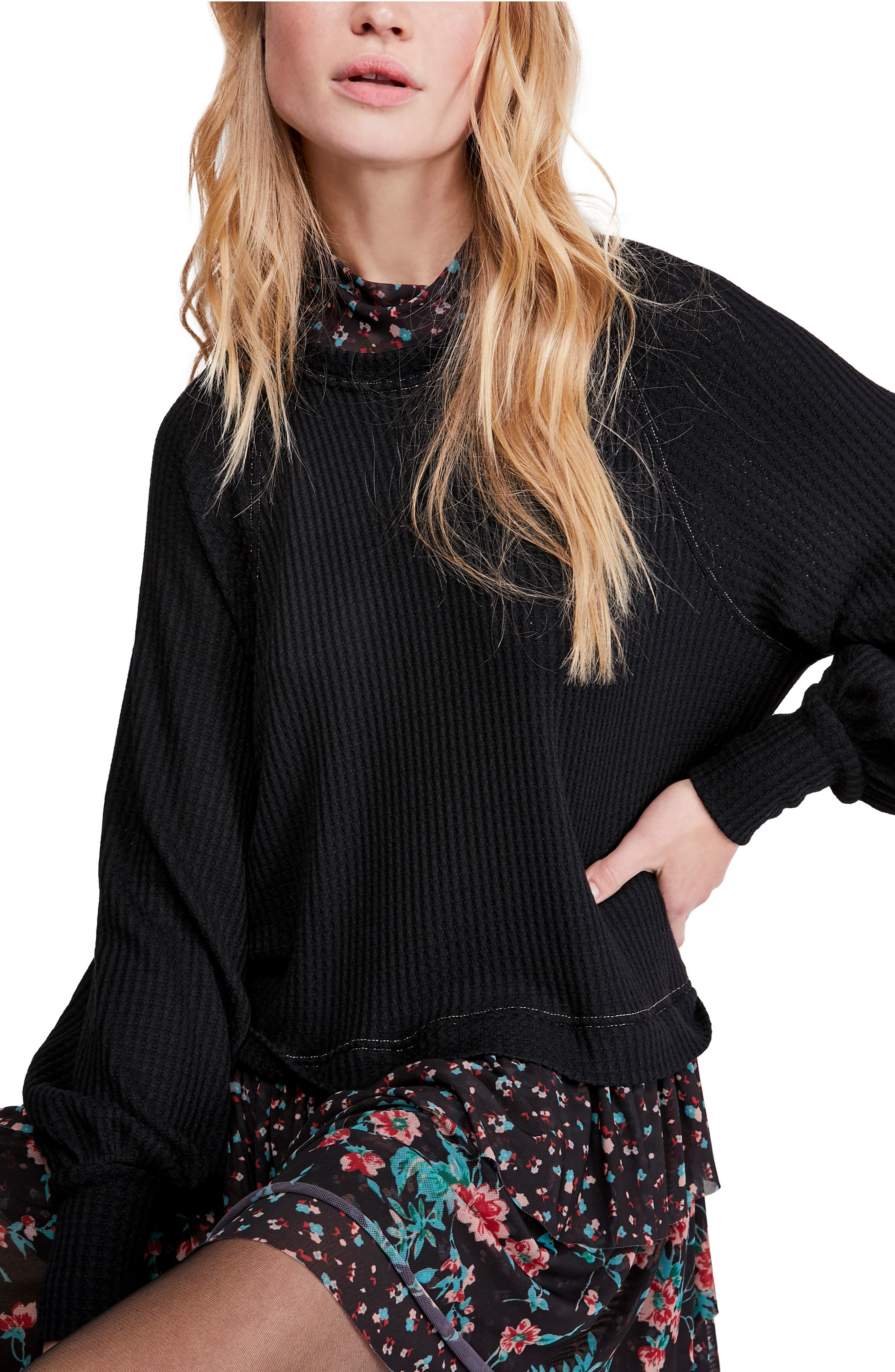 Free People Dresses Opposite Attraction Long Sleeve Dress