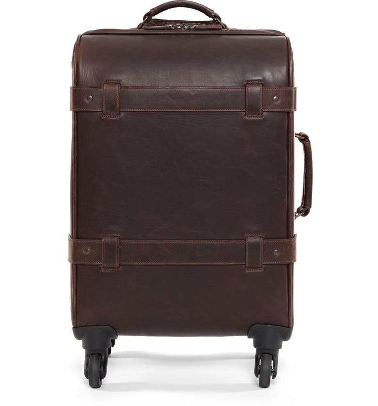 MOORE & GILES Parker 22-Inch Leather Wheeled Suitcase, Main, color, BALDWIN OAK