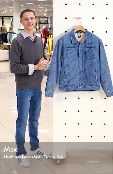 Dynamite Fleece Lined Denim Trucker Jacket, sales video thumbnail