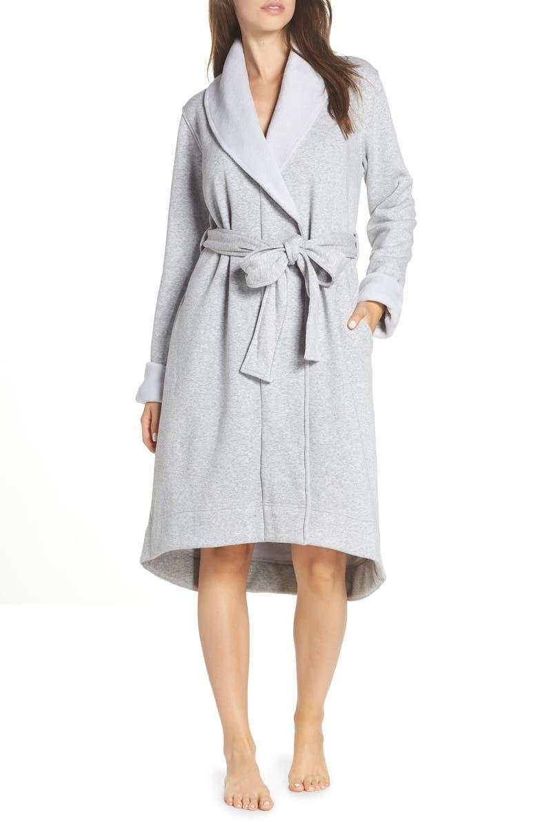 UGG<SUP>®</SUP> Duffield II Robe, Main, color, SEAL HEATHER