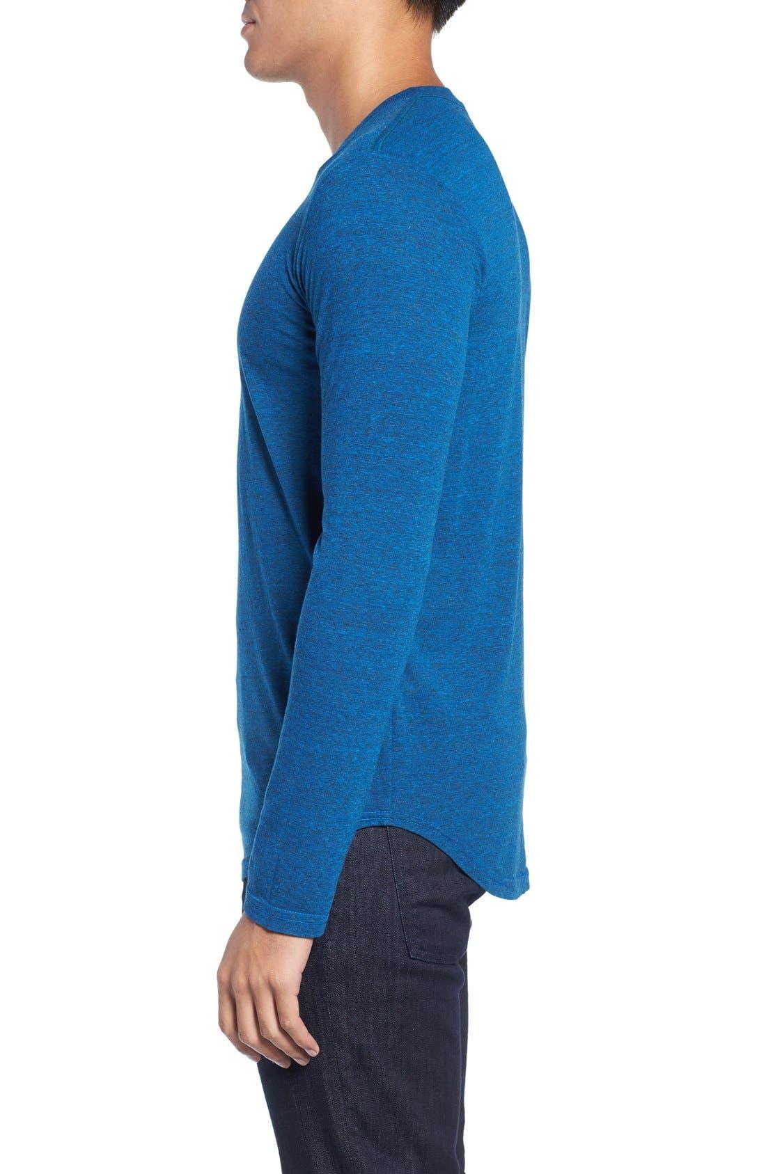 ,                             Triblend Scallop Long Sleeve Crewneck T-Shirt,                             Alternate thumbnail 32, color,                             420