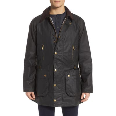 Barbour Icons Beaufort Water Resistant Waxed Cotton Jacket, Green
