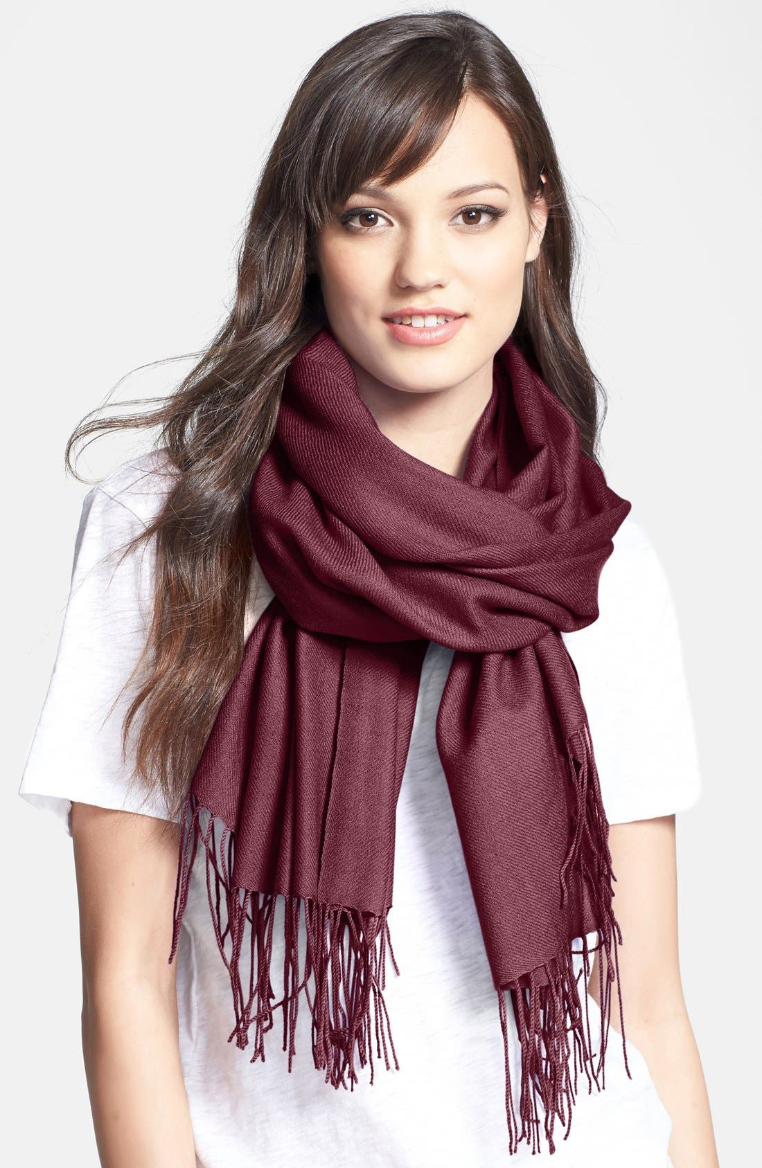 ,                             Tissue Weight Wool & Cashmere Wrap,                             Main thumbnail 167, color,                             605