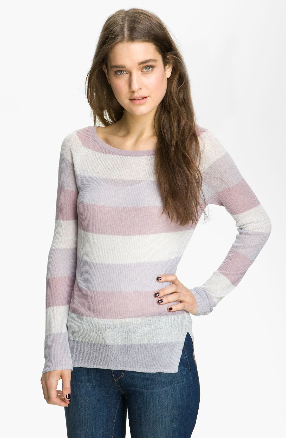 ,                             <sup>®</sup> Stripe Knit Sweater,                             Main thumbnail 1, color,                             060