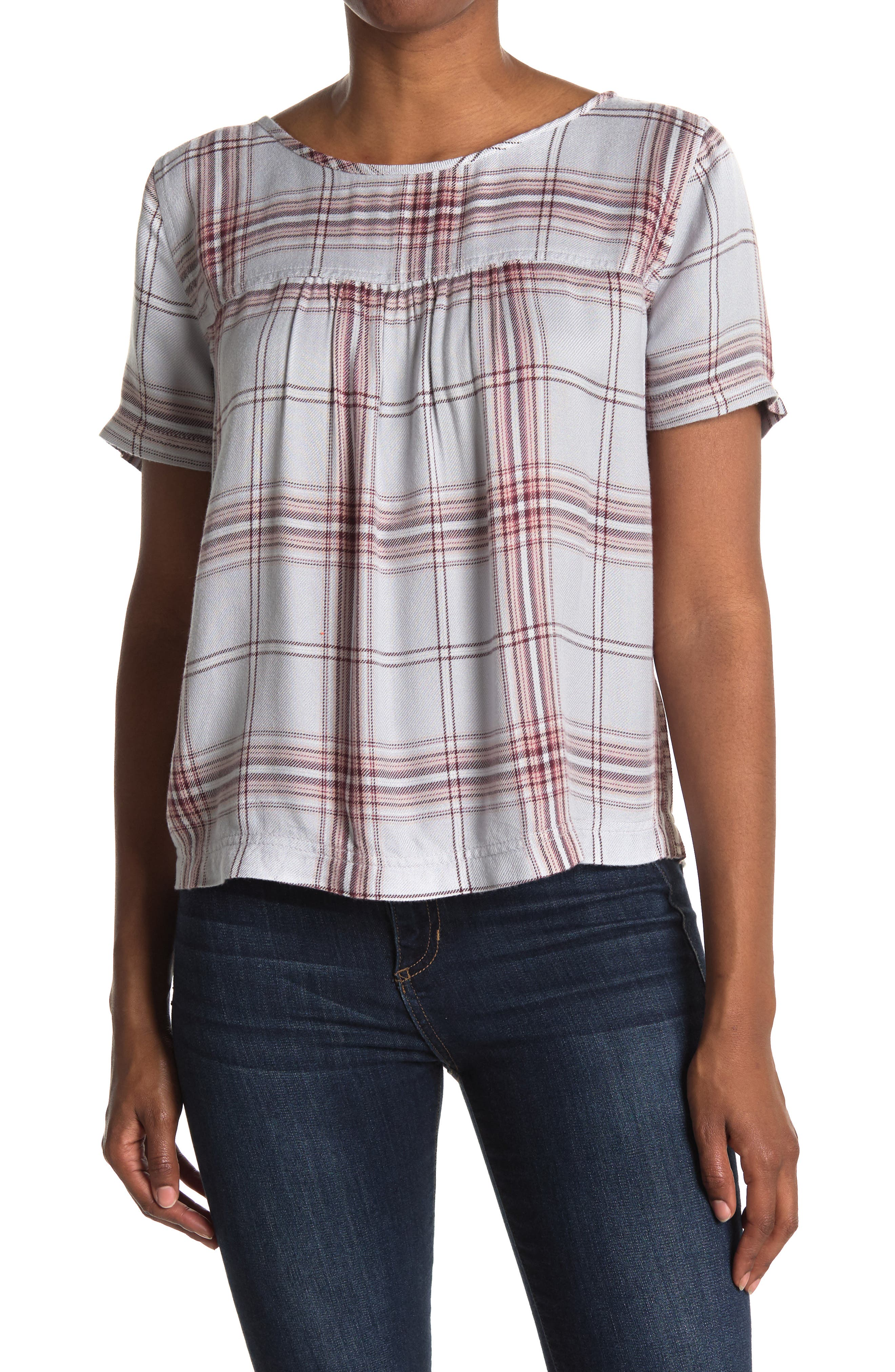 Image of Caslon Button Back Printed Woven Shirt