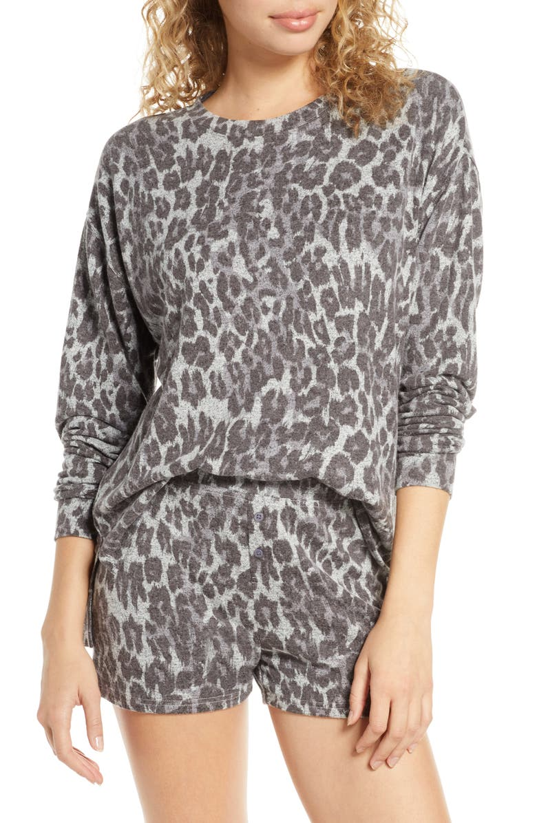 BP. Cozy Top, Main, color, GREY LEOPARD DASH