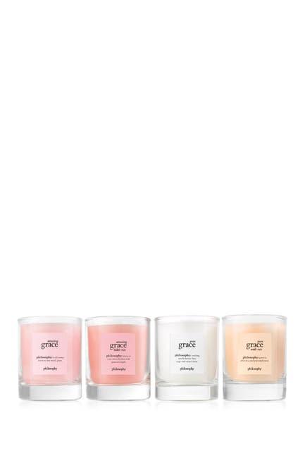Image of philosophy illuminating grace votive candle coffret - set of 4
