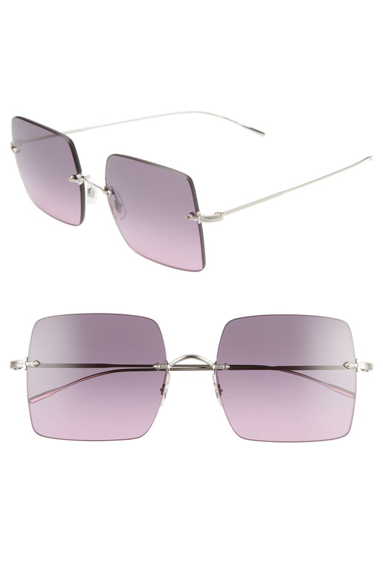 OLIVER PEOPLES Oishe 57mm Gradient Rimless Square Sunglasses, Main, color, 042