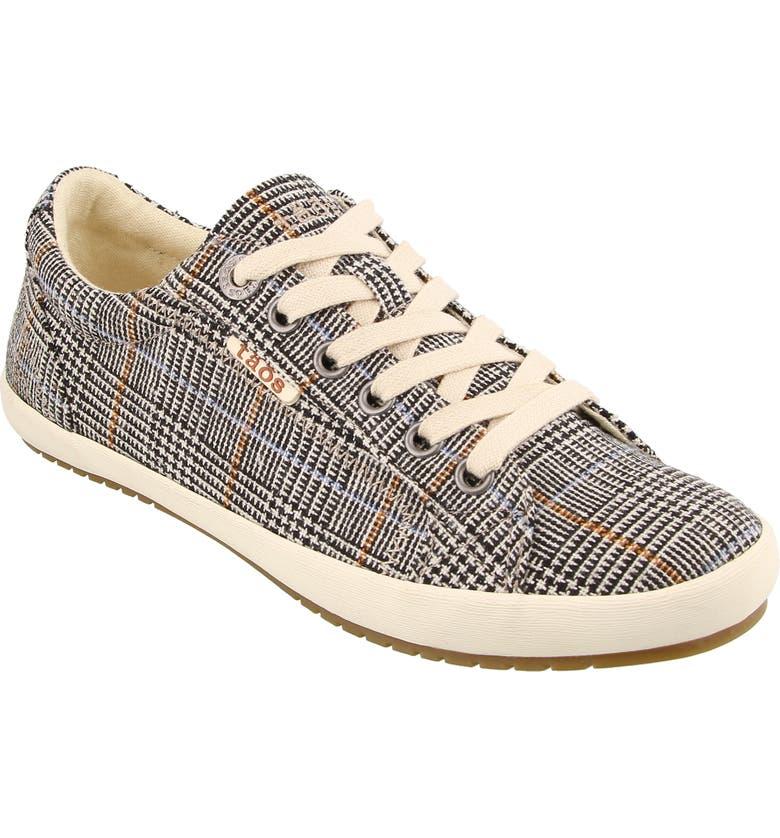 TAOS 'Star' Sneaker, Main, color, BLACK PLAID FABRIC