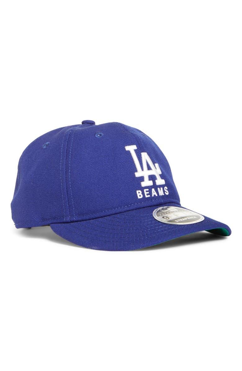 NEW ERA CAP BEAMS x New Era 9FIFTY Los Angeles Dodgers Wool Twill Baseball Cap, Main, color, 401