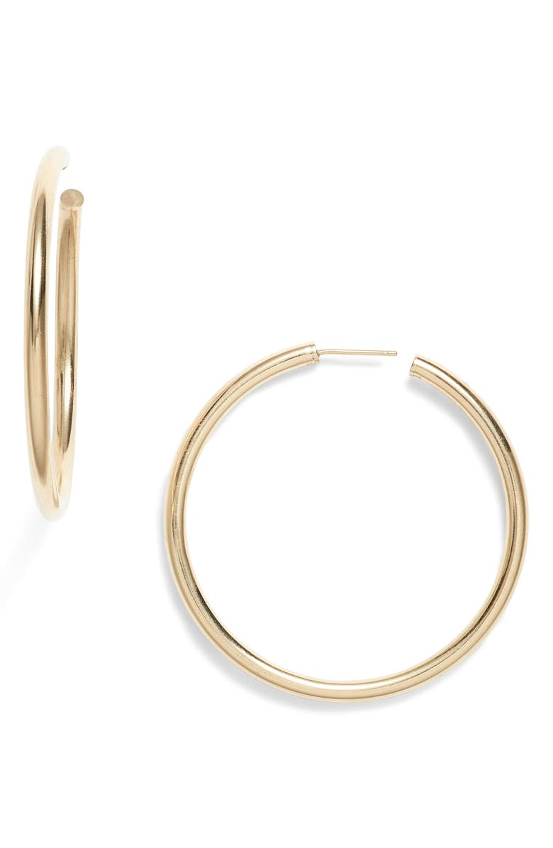 LOREN STEWART Natasha Hoop Earrings, Main, color, GOLD