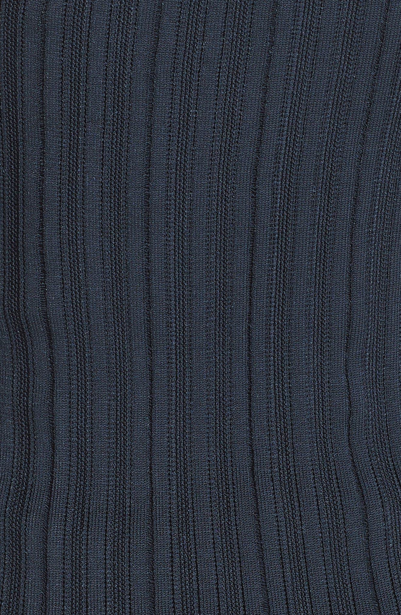 ,                             Knit Cutout Off the Shoulder Dress,                             Alternate thumbnail 6, color,                             NAVY