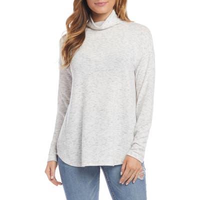 Karen Kane Funnel Neck Shirttail Top
