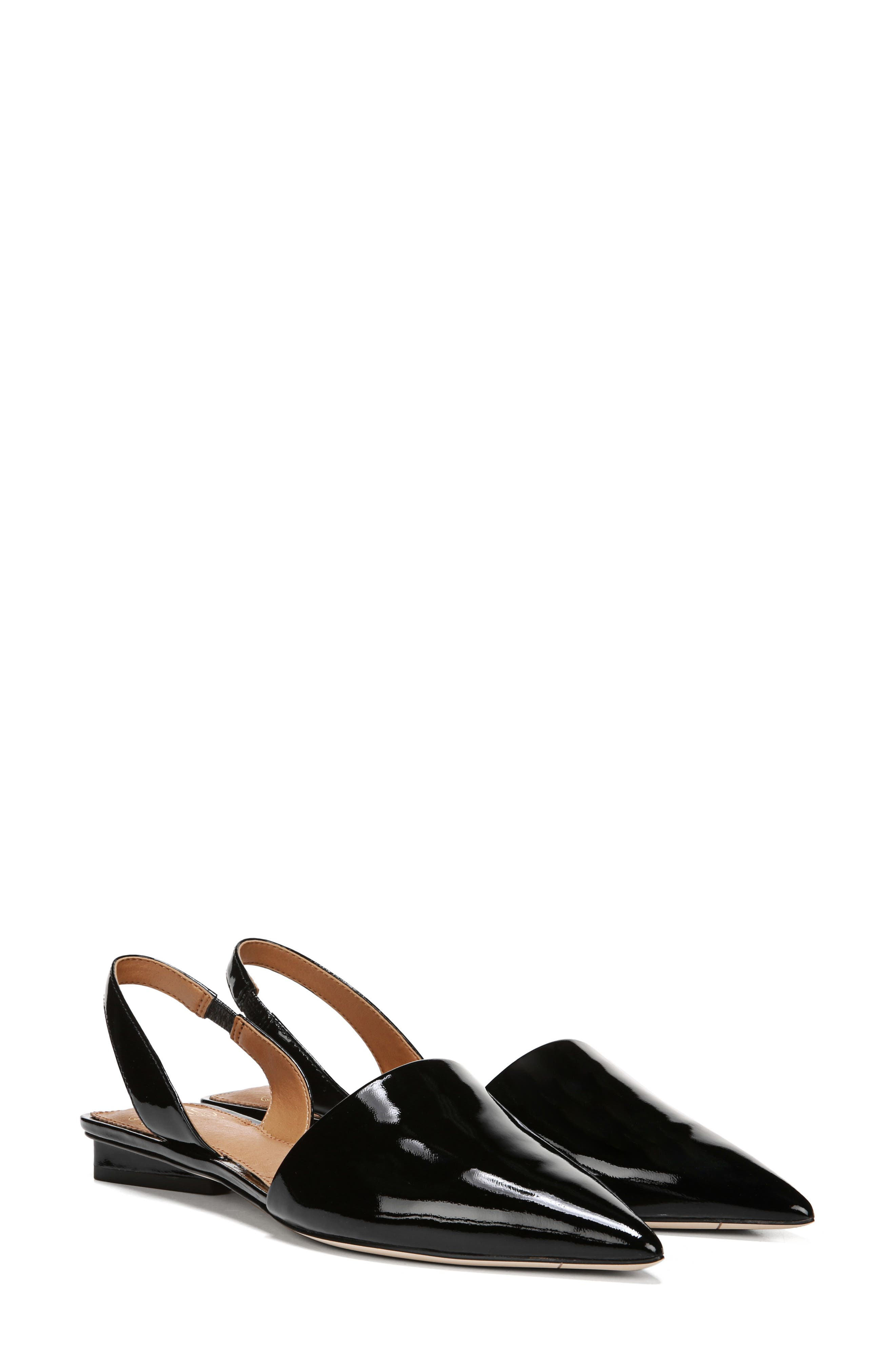 ,                             Graydon Pointy Toe Slingback Flat,                             Alternate thumbnail 7, color,                             BLACK PATENT LEATHER