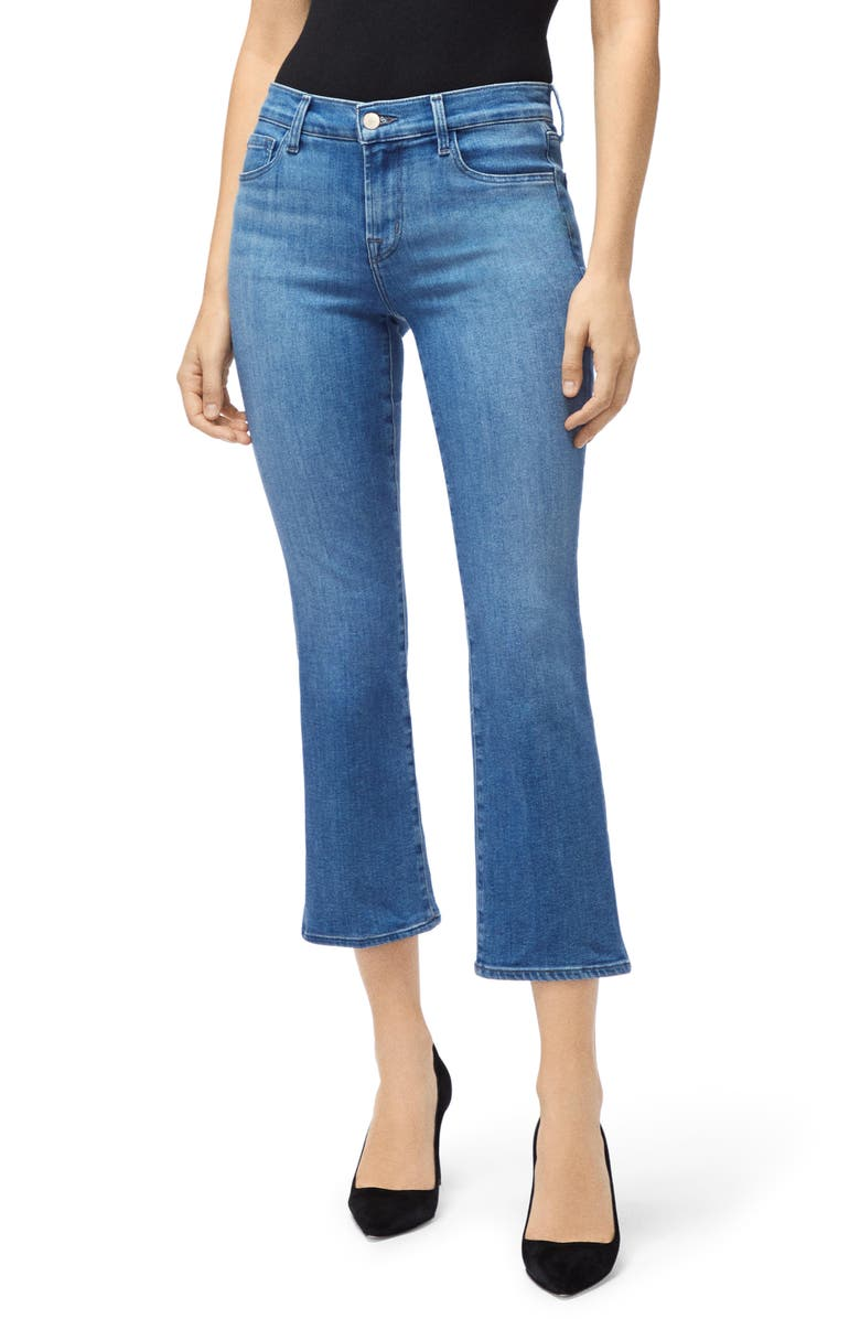 J BRAND Selena Crop Bootcut Jeans, Main, color, 455