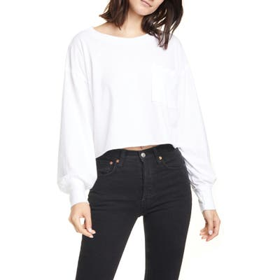 Free People Austin Long Sleeve Shirt, White
