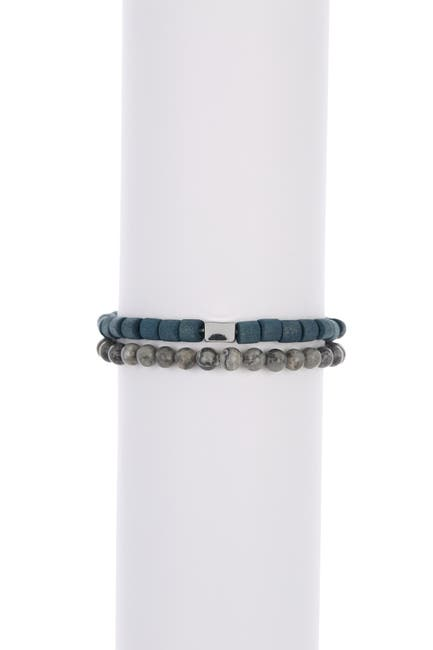 Image of Nordstrom Rack Cylinder Beaded Elastic Bracelets - Pack of 2