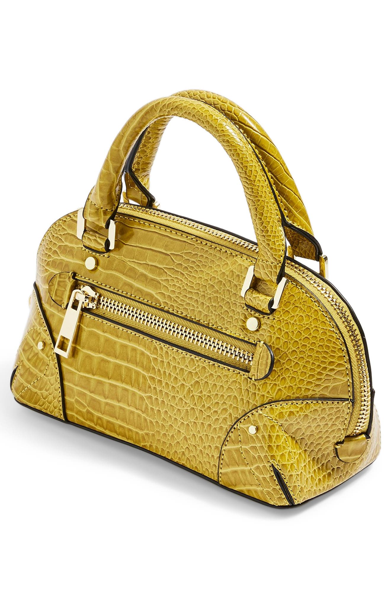 ,                             Goa Mini Embossed Bowler Bag,                             Alternate thumbnail 8, color,                             YELLOW MULTI
