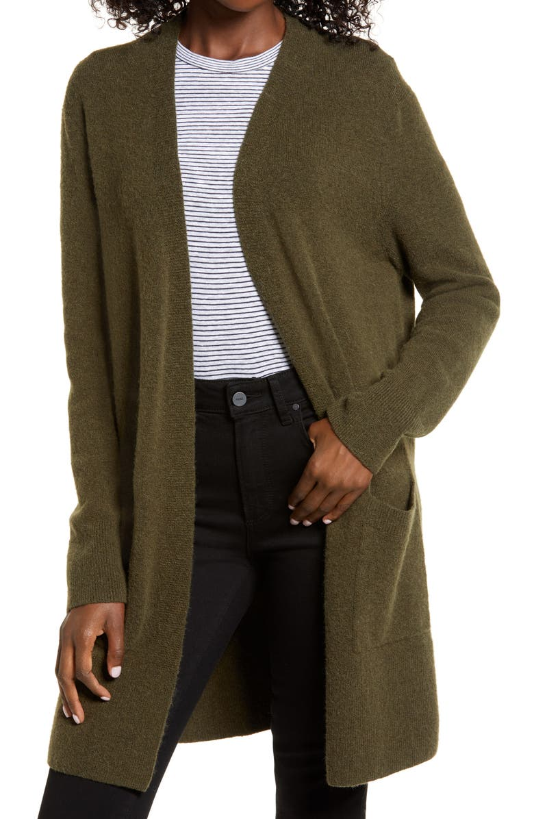 MADEWELL Kent Cardigan Sweater, Main, color, DRIED OLIVE