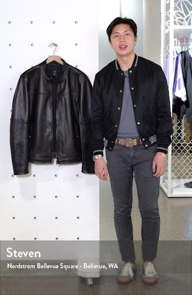 Nestem Leather Moto Jacket, sales video thumbnail