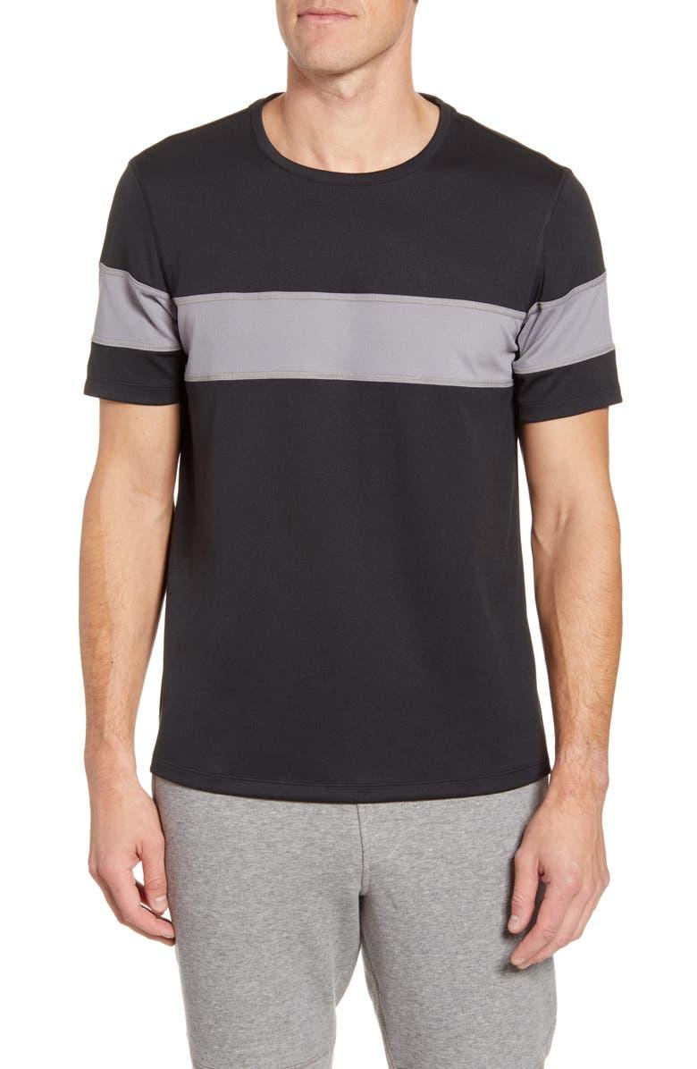 FOURLAPS Smash Stripe T-Shirt, Main, color, BLACK