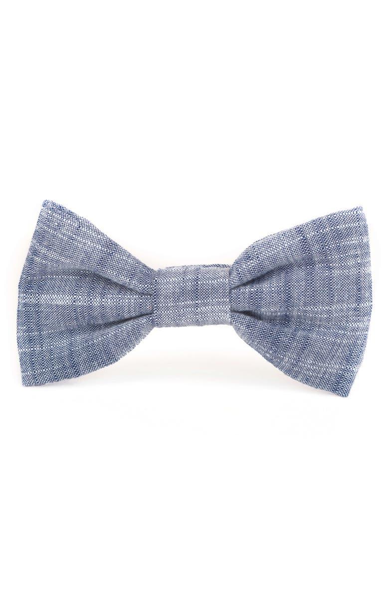 THE FOGGY DOG Chambray Dog Bow Tie, Main, color, CHAMBRAY