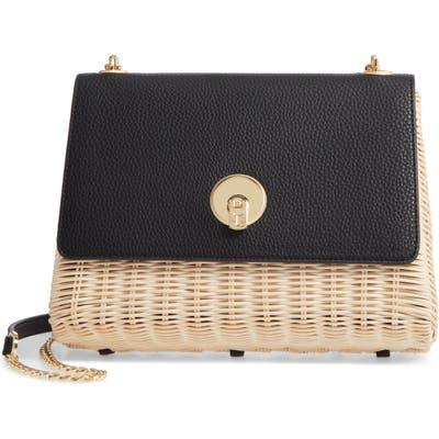 Ted Baker London Elava Wicker & Leather Crossbody Bag - Black