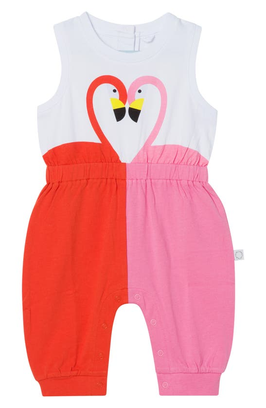Stella Mccartney Cottons FLAMINGO COTTON JERSEY ROMPER