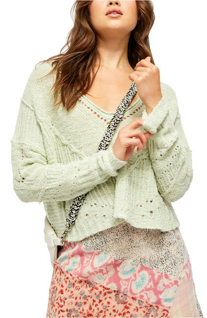 Image of Free People Seashell Crop Sweater